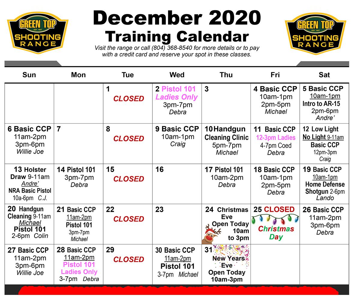 December Training
